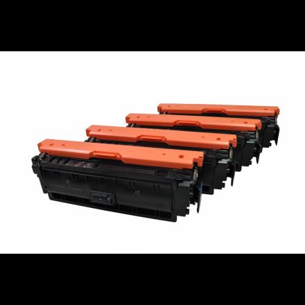 De HP 508A (CF360A, CF361A, CF362A, CF363A) toner setprijs voordeel Eeko Print (huismerk)